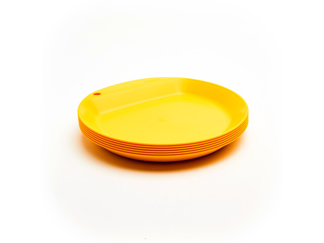 Wildo Camper Plate Flat Zestaw Unicolor 6x, lemon